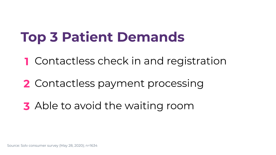 Top 3 patient demands for returning to in-person care